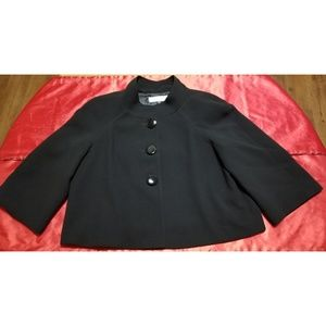 TAHARI ASL 3 Button Black Blazer Jacket - Sz 14P